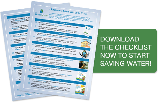 Download The Checklist Now to Start Saving Water!