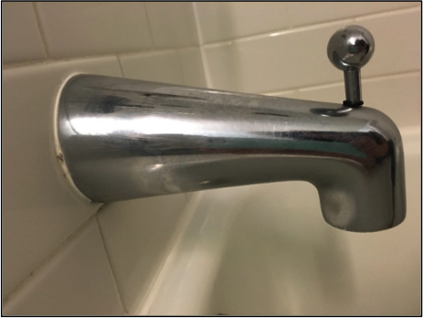 many bath and shower diverters currently installed leak a small amount of water from the tub spout while they are engaged and the water is being diverted to - Shower Diverter