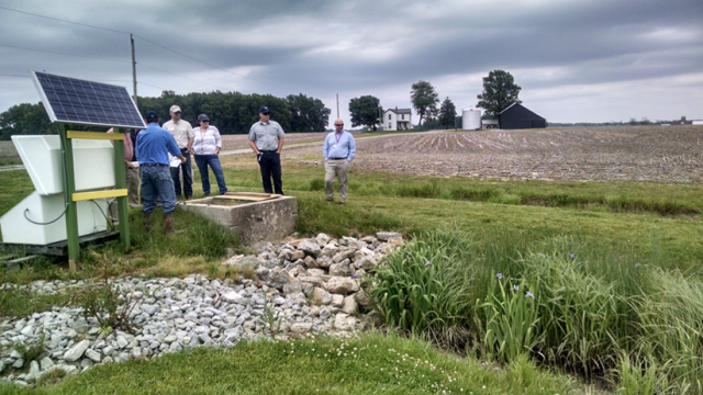 East Fork Watershed Cooperative members visit a wetland treatment site