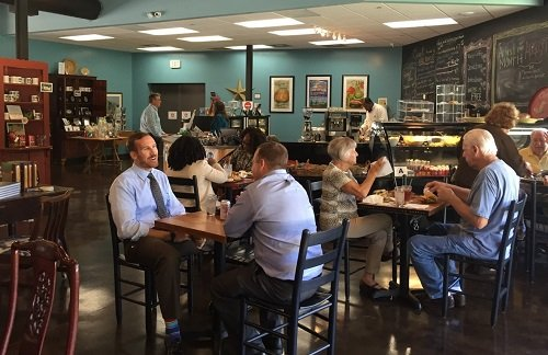 The Colleton Commercial Kitchen's retail café attracts a crowd for lunch.