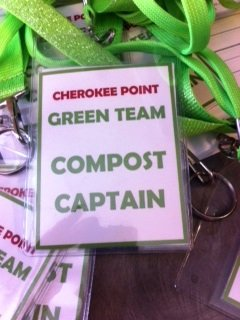 This is a picture of the lanyards Cherokee Point Elementary School made for their Compost Captains