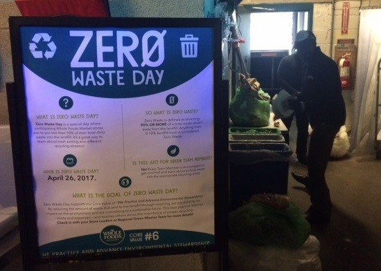 This is a picture of a poster for Zero Waste Day.