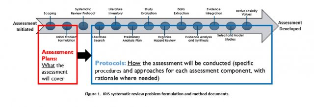 This figures illustrates the process the IRIS program utilizes to perform systematic review.