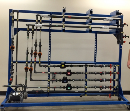 A pipe rig developed by EPA scientists for corrosion control studies at Flint's water treatment plant.