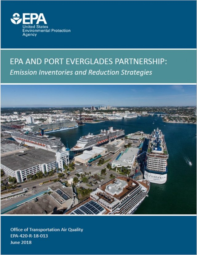 Cover of report for EPA and Port Everglades Partnership