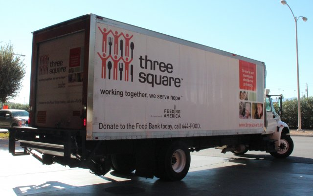 this is a picture of a food donation truck