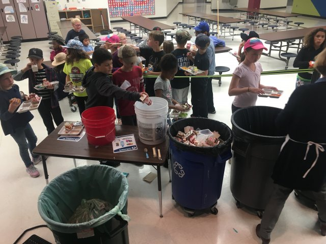 this is a picture of the waste audit Christa McAuliffe Elementary School