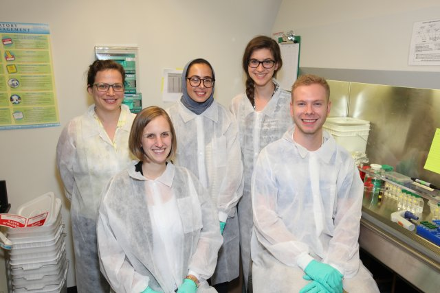 Tal lab members Front row: Tara Catron (now at BASF), Drake Phelps (now in graduate school at NCSU) Back row: Tamara Tal (NHEERL), Shaza Gabalah (ORISE), Allison Kvasnicka (student volunteer from Meredith College) Not pictured: Xia Meng Howey (ORISE), Luí