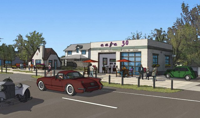Cafe concept sketch for Sutherland Nebraska