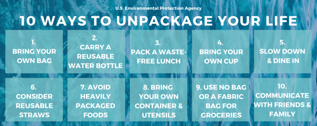 10 Ways to Unpackage Your Life Infographic