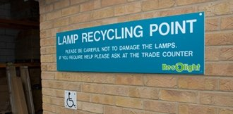 Picture of a lamp recycling point
