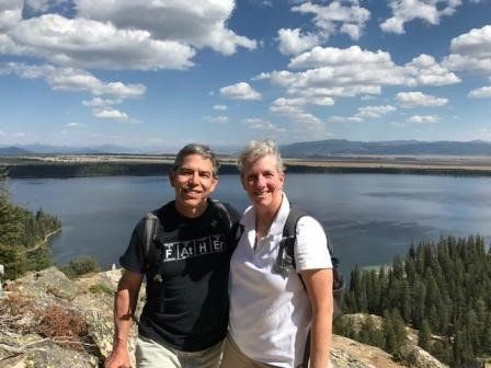 Jennifer and her husband on a hike in Jackson Hole, Wyoming.
