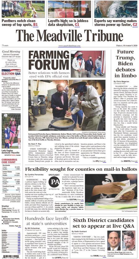 The Meadville Tribune cover