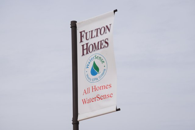 Fulton Homes WaterSense flag.