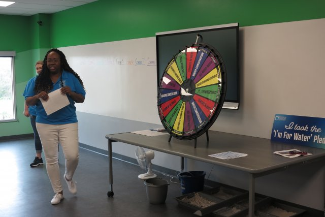 Spin the Wheel game at local middle school.