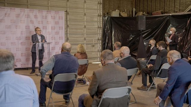 Administrator Wheeler speaks at L.T.D. Farms announcing a $3.2 million grant to protect water quality in Arkansas.