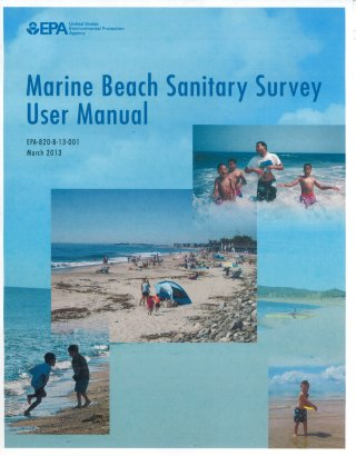 Photo cover for marine beach sanitary survey user manual