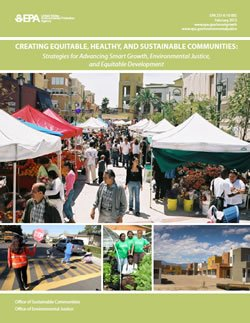 "Report Cover: ""Creating Equitable, Healthy, and Sustainable Communities"""