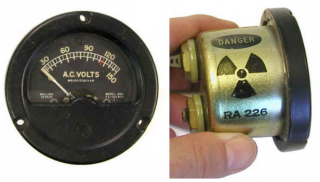 Image of a radioluminescent gauge.