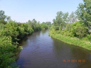 View of 1.5 Mile reach South of Lyman Street, May 2013 (Housatonic River 1½ Mile)