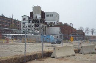 GE Plant Site, 30s Building Complex - Building 31-W Oil/Water Separator in Foreground