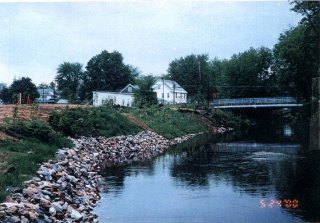 [May 24, 2000] Cells A and C - North side of river looking upstream (East); Restoration complete including planting.