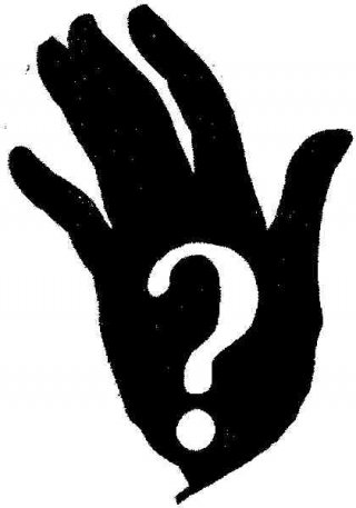 Image of hand with question mark