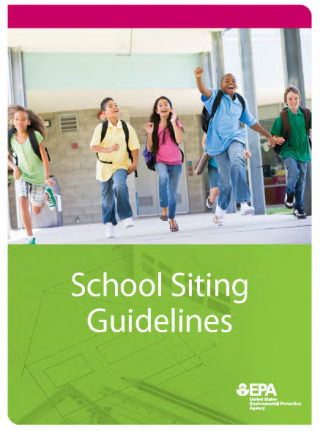 cover of the School Siting Guidelines document