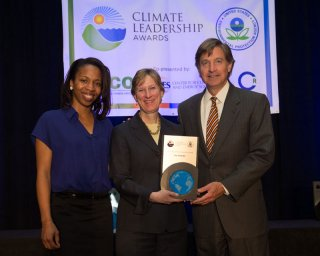 Beth Craig, US EPA, with Jenell Moffett and The Honorable Will Wynn, City of Austin, TX