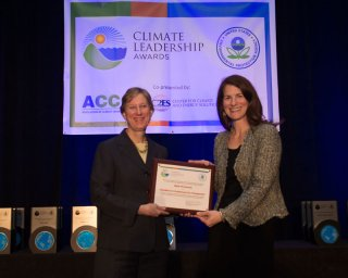 Beth Craig, US EPA, with Alexandra Liftman, Bank of America