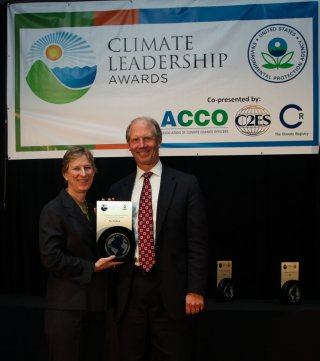 Beth Craig, US EPA, with Jay Bruns, The Hartford