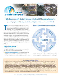 U.S. Government's Global Methane Initiative Accomplishments report cover, 2015