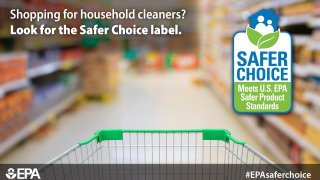 shopping cart with the Safer Choice label