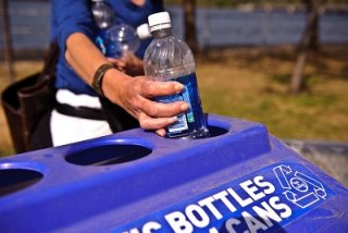 recycling a plastic water bottle