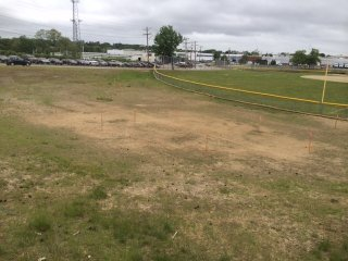 Providence, RI Green Infrastructure Project at J.T. Owens Ballpark: Before Construction (Fall 2013)