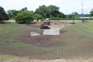 Providence, RI Green Infrastructure Project at J.T. Owens Ballpark: During Construction