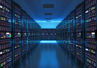 Stock photo of a server room - also link to CMAQ inputs and test cases