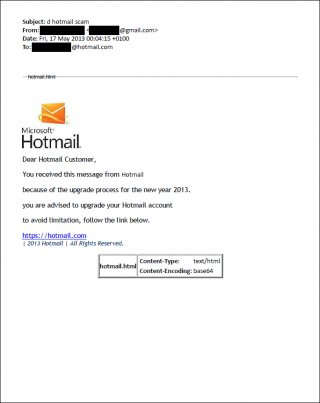 Gallery Image 7: Phishing email sent to personal emails