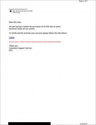 Gallery Image 2: Phishing email example
