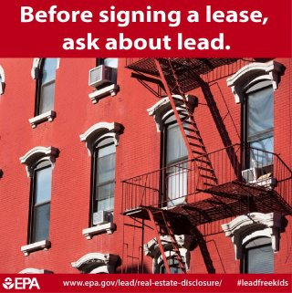 Before Signing a Lease, Ask About Lead Infographic