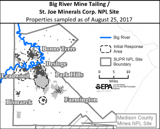 image of small Big River Mine Tailings site map
