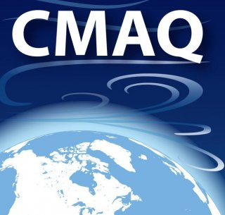 CMAQ over picture of earth