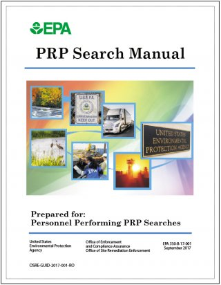 PRP search manual 2017 edition cover
