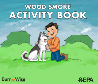 Cover: Learn about wood smoke activity book