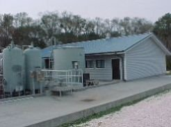 Picture of the Bayou Bonfouca Superfund site ground water pump and treatment system.
