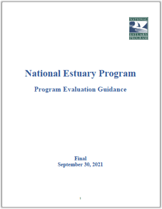 Cover Page of the National Estuary Program: Program Evaluation Guidance, Final August 3, 2016