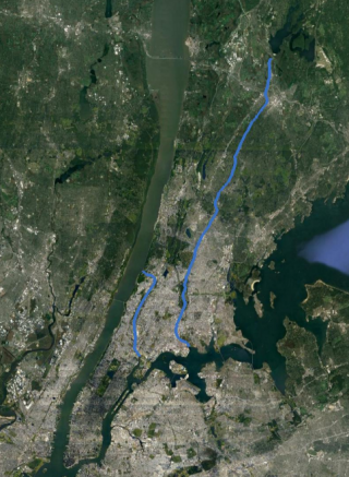 Bronx River Watershed Aerial View