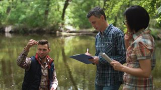 citizen scientists test water quality