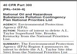 EPA deletion notice published in the Federal Register.