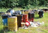 Chemical drums at a newly discovered potential NPL site